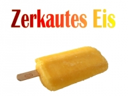 Zerkautes Eis