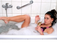Enspannung in der Badewanne