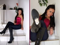 Jeans, Buffalo Stiefel und Corsage
