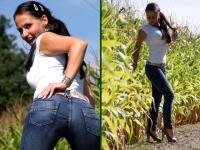 Du liebst meinen Jeansarsch! Jeans und Shirt